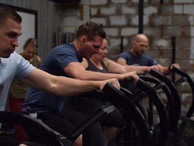 workout on bikes